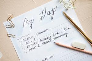Wie du deinen Alltag mit nur 3 Schritten produktiver planen kannst.