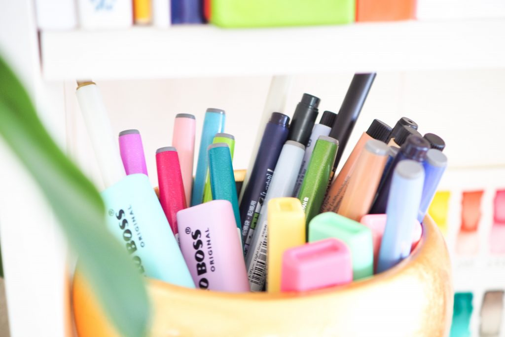 Brush Pens Aufbewahrung