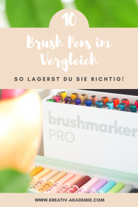 Brush Pen Aufbewahrung