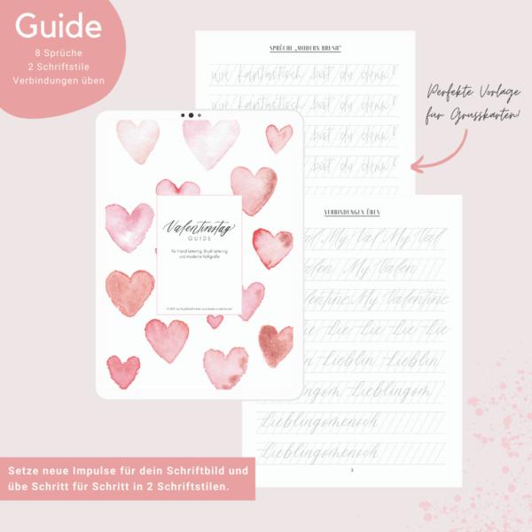 Lettering Guide Valentinstag