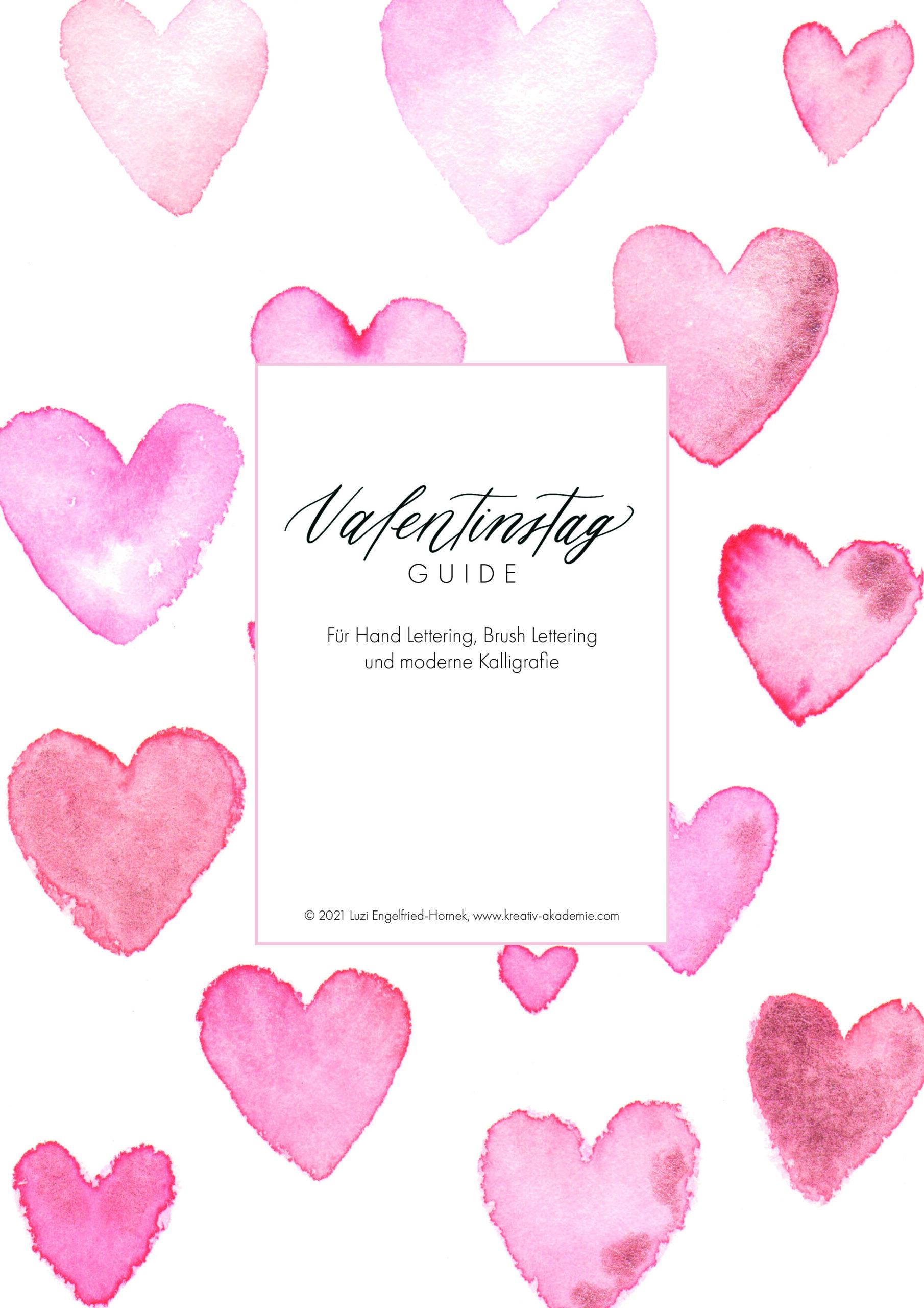 Kalligrafie Guide Valentinstag